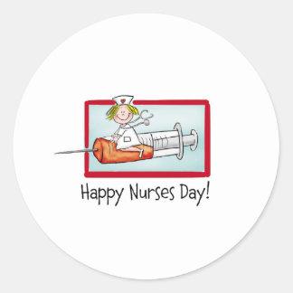 Happy Nurses Day Classic Round Sticker