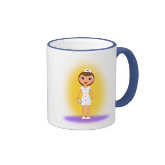 Happy Nurses Day Cup for a Nurse Mom! Ringer Coffee Mug