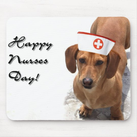 Happy Nurses Day Dachshund mousepad