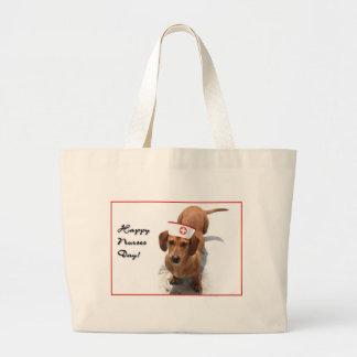 Happy Nurses Day Dachshund tote bag