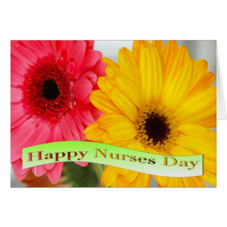 Happy Nurses Day Daises Greeting Card