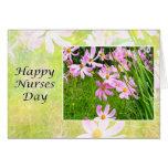 Happy Nurses Day Field Of Pink Cosmos Card