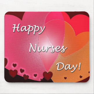 Happy Nurses Day Hearts Mousepads