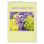 Happy Nurses Day Spring Flowers Greeting Cards