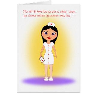 Happy Nurses Day to a Loving, Caring Nurse - Lynda Card