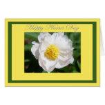 Happy Nurses Day White Peony Flower Card