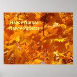 Happy Nurses Happy Patients posters Golden Leaves