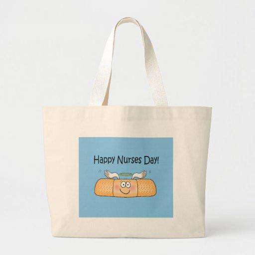 Happy Nurses Nurse Nurse's Day Whimsical Bandage Tote Bag