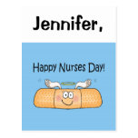 Happy Nurses Nurse Nurse's Day Whimsical Bandage Postcards