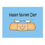 Happy Nurses Nurse Nurse's Day Whimsical Bandage Postcard