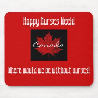 Happy Nurses Week-Canada/Maple Leaf Mouse Pad
