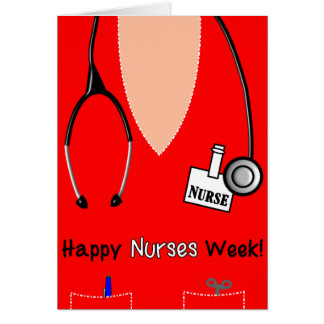 Happy Nurses Week Card Scrub Top