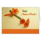 Happy Nurses Week. Colorful Daisies Greeting Cards