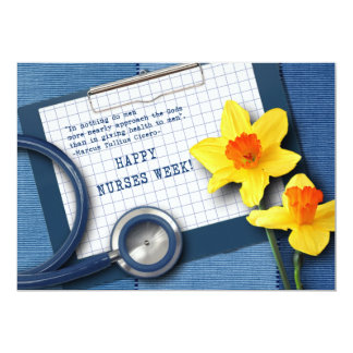 "Happy Nurses Week. Customizable Greeting Cards 5"" X 7"" Invitation Card"