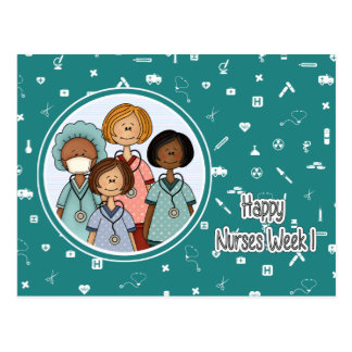 Happy Nurses Week Customizable Postcards