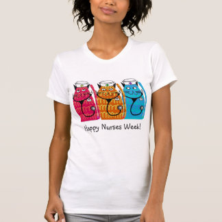 Happy Nurses Week Nurse Cats T-Shirt