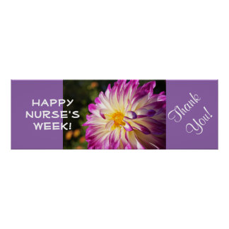 Happy Nurses Week! posters Thank You Dahlias Nurse