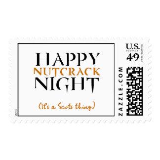 Happy Nutcrack Night Postage Stamp