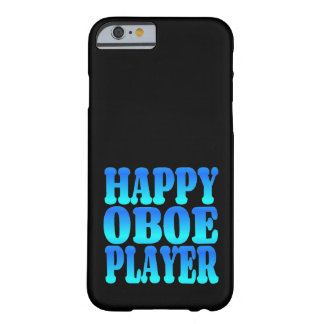 Happy Oboe Player in Blue Barely There iPhone 6 Case