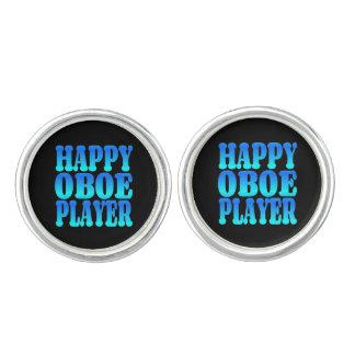 Happy Oboe Player in Blue Cufflinks