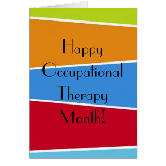 Happy Occupational Therapy Month Appreciaton Cards