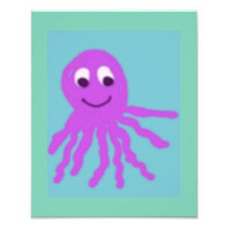Happy Octopus 8 x 10 Photo Print