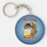 Happy Oktoberfest Beer Kitty Keychains