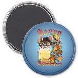 Happy Oktoberfest Beer Kitty Magnets