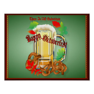 Happy Oktoberfest Beer Kitty Poster