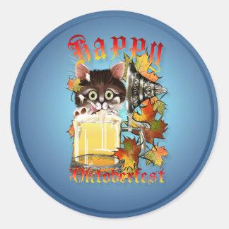 Happy Oktoberfest Beer Kitty Stickers