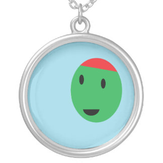 Happy Olive Round Pendant Necklace
