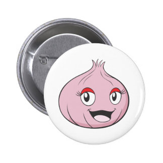 Happy Onion Vegetable Cartoon Button
