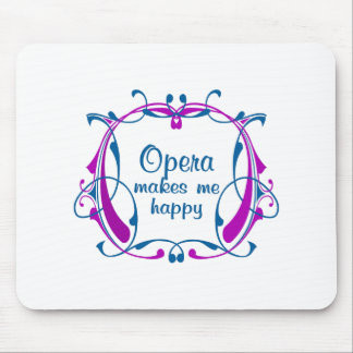 Happy Opera Mouse Pads