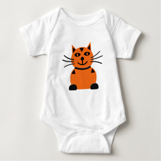 Happy Orange Cat Baby Bodysuit