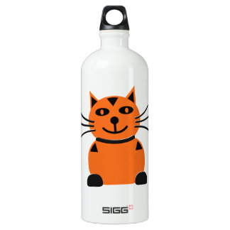 Happy Orange Cat Water Bottle