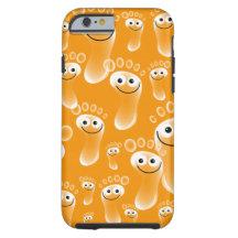 Happy Orange Feet iPhone 6 Case