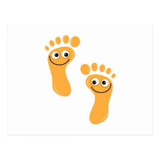 Happy Orange Feet Postcard
