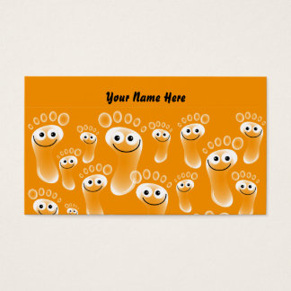 Happy Orange Feet, Your Name Here Business Card