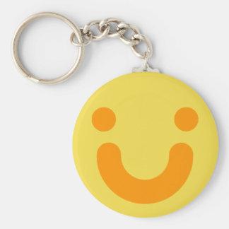 Happy orange keychain