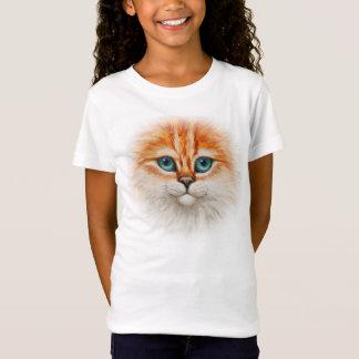Happy Orange Kitty Cat Face T-Shirt