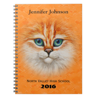Happy Orange Kitty Face Notebook