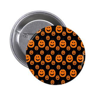 Happy Orange Pumpkins Pinback Button