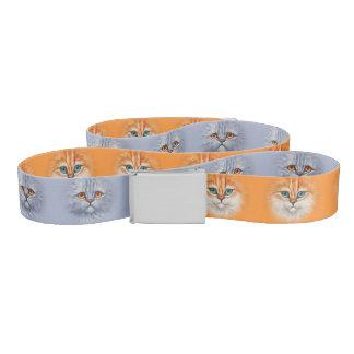 Happy Orange Tabby Kitten & Sad Gray Tabby Kitten Belt