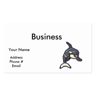 happy orca killer whale Double-Sided standard business cards (Pack of 100)