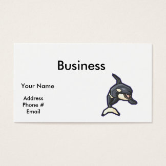 happy orca killer whale business card