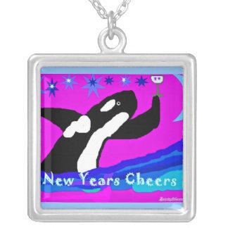 Happy Orca New Years cheer Custom Necklace