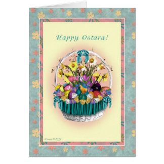 Happy Ostara - Ostara Basket Blank Note Card