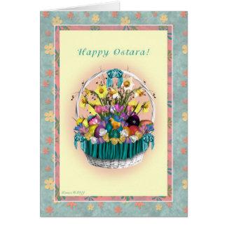 Happy Ostara - Ostara Basket Blank Note Card
