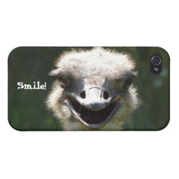 Happy Ostrich- Smile! Cover For iPhone 4