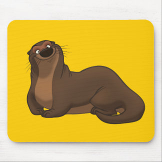 Happy Otter Mousepad
